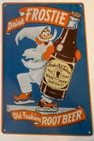 Frosty Root Beer Metal Tin Advertising Vintage Sign Old Fashion Hires Dads