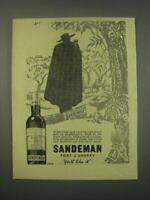 1949 Sandeman Port amp; Sherry Ad It has been said that the sun never sets
