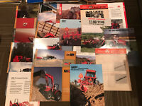 24 RARE VTG MASSEY FERGUSON TRACTOR DEALER ADVERTISING BROCHURE