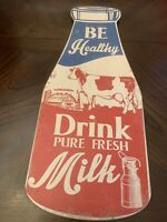 1950's Vintage Be Healthy Drink Pure Fresh Milk Dairy Farm Cow 21