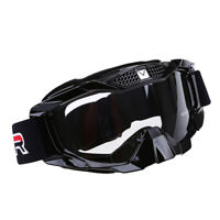 Clear Motocross Motorcycle Goggles Black Off Road Eyewear Windproof ATV Glasses