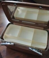 Vintage Samsonite Concord Train Case Makeup Cosmetic Suitcase wKEYSMIRROR NICE