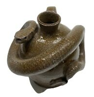 Marvin Bailey signed SNAKE JUG Southern Folk Art Pottery