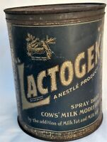 1930's Lactogen Nestle Cow's Milk Modified 2 1/2# Tin Can Super Rare Item