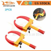 Polished 2 ×Wheel Clamp Lock Boot Tire Claw Trailer Auto Car Truck Anti-Theft