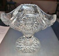 American Brilliant Cut Glass Jelly Compote by Pairpoint