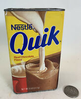 Vintage 1980 Half Full Nestle's Quik 8 oz Tin Container Puzzle