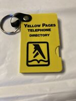 Vintage Yellow Pages Directory Address Book Keychain 1987 Chicago