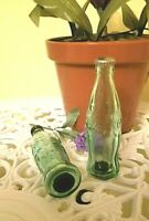 USA...NEW... COCA COLA SALT AND PEPPER SHAKERS VINTAGE GREEN GLASS