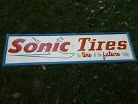 Sonic Tires Sign Embossed Tire Sign Sonic Tire