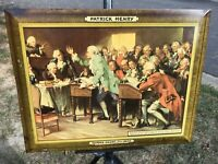 RARE PATRICK HENRY BEER METAL SIGN TIN OVER CARDBOARD SIGN KILEY MARION IN