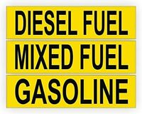 Mixed Fuel Diesel Fuel and Gasoline Decals