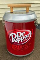 VTG DR. PEPPER CAN SHAPED COOLER 14quot; TALL 33quot; DIAMETER SODA ADVERTISING