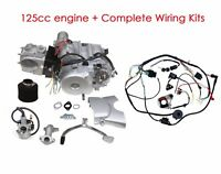 125cc 4 stroke ATV Engine Motor Semi Auto Electric Start Wiring Harness gokart