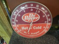 Vintage quot;DR.PEPPER SODAquot; HOT or Cold THERMOMETER 1960#x27;s Sign In U.S.A. Ohio Co.