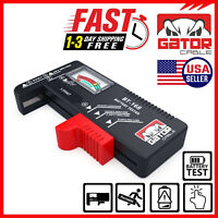 Battery Tester Checker Universal For AA AAA C D 9V 1.5V Button Cell Batteries $6.99