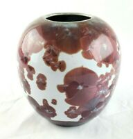 Jon Price Crystalline Pottery F 355 Pink and White Vase