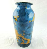 Jon Price Crystalline Pottery Vase E 5058 Blue and Yellow