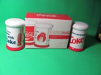 OFFICIAL LICENSED COCA COLA SALT AND PEPPER SHAKERS 2008 PACIFIC ENTERPRISE NIB
