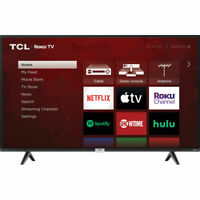 TCL 43S435 43quot; 4K UHD HDR Wall Mountable LED Roku Smart TV $289.99