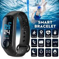 Smart Watch Blood Pressure Heart Rate Monitor Bracelet Wristband for iOS Android $5.89