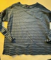 Kohls Chaps womens blue stripe top size XL 3 4 sleeve pullover NWT