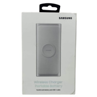 Samsung 2 in 1 Portable Fast Charge Wireless Charger and Battery Pack Silver $29.99