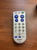 Genuine Sony Universal TV Cable Big Button Remote Control RM EZ2 Works $7.50