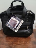 SAMSONITE TOP GRAIN LEATHER WHEELED PORTFOLIO FULLY LINED DOUBLE GUSSET CONST.