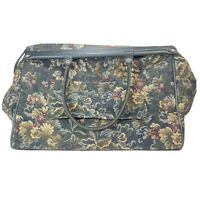 ATLANTIC Vintage Luggage 18quot; Tapestry Carry On Weekend Green Floral Carpet Bag