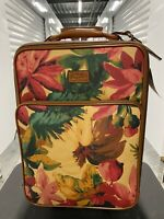 PATRICIA NASH SPRING MULTI COLOR COATED VETTORE WHEELED TROLLEY LUGGAGE NWT