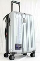 DELSEY CONNECTECH 21quot; EXPANDABLE HARDSIDE SPINNER CARRY ON SUITCASE MATTE SILVER