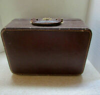 SMALL VINTAGE SUITCASE MAKEUP..MIRROR IN LID..FAUX ALLIGATOR