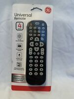 GE Universal Remote Control 4 Device Configuration for all Brands Black New $9.99