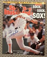 DWIGHT EVANS SIGNED 16x20 SPORTS ILLUSTRATED PHOTO BOSTON RED SOX SURE SHOT AUTO
