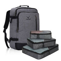 38L Airline Approved Backpack Weekender Carry On w 3PCS Packing Cubes Multicolor