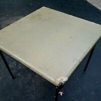 Vintage Samsonite Folding Card Game Table Wood Portable 30quot; Square Green D