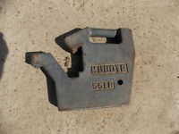 2 Kubota tractor weights 55 lb each front mount suitcase type.