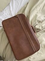 VINTAGE luggage small Leather Personal Item