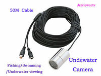 50m Cable Wide Angle Color Underwater Video Camera 4 LEDS Fishing Camera