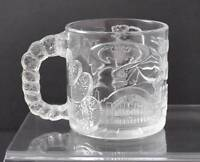 Vintage Clear Glass McDonald's Two-Face Mug Cup Batman Forever 1995 France Y34