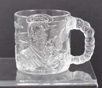 Vintage Clear Glass McDonald's Two-Face Mug Cup Batman Forever 1995 France B19