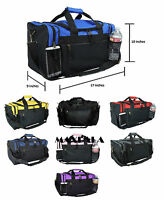 Men Women Duffle Duffel Bag Travel Gym Bag Carry-On Red Black Blue Gold Gray 17