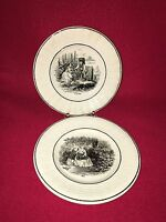 Staffordshire Style French Children's Plates Month Series May October Ca 1840