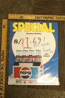 Pepsico Inc. Pepsi Poster Store Display Special Sale Advertisement 17 X 21quot; G
