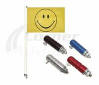 Smiley Wheeler Whips Flag With 1/4