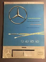 1959 Mercedes-Benz Factory Issued Calendar RARE!! Awesome L@@K