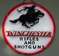 Metal WINCHESTER Sign Gas Oil Garage Man Cave Home Decor RIFLES