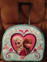 Disney Store Frozen Elsa Anna Rolling Luggage Suitcase Carry-On