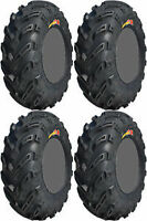 2- 26x10-12 & 2- 26x12-12 GBC DIRT DEVIL AT ATV UTV SET TIRES CLAW MUD LITE BEAR